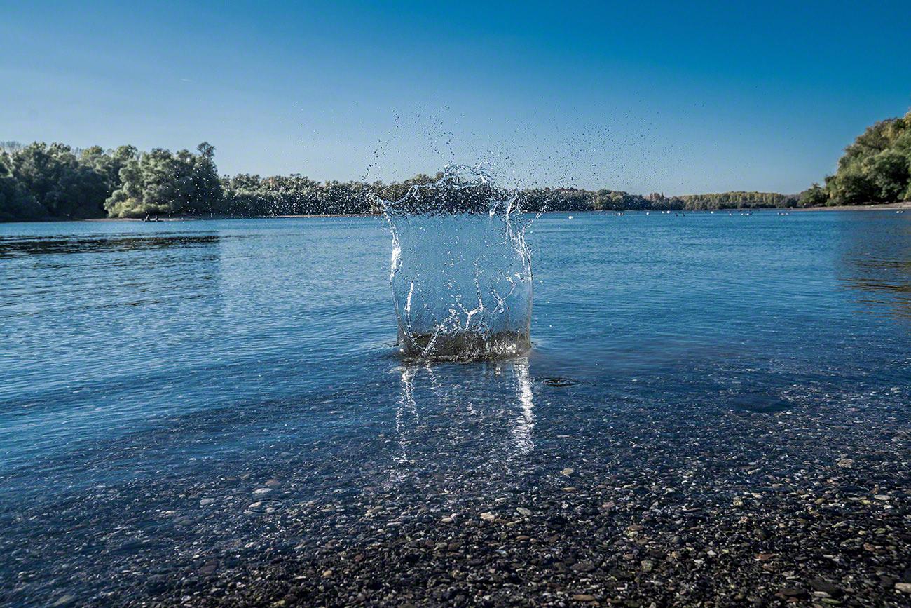 Fotografie Landschaft Wasser Spritzer