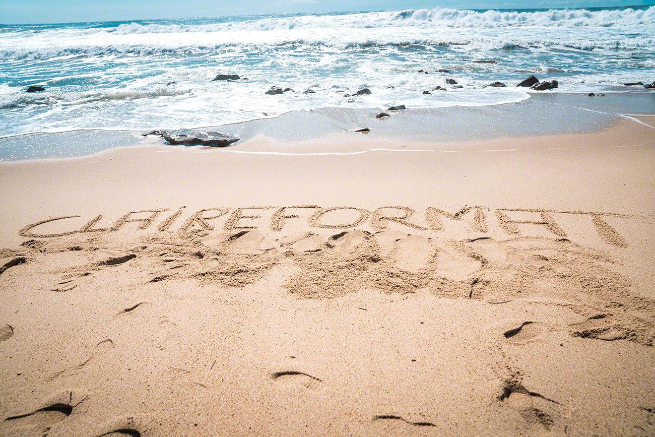 Fotografie Strand Wasser Claireformat